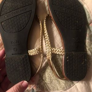 Gold sandals size 13